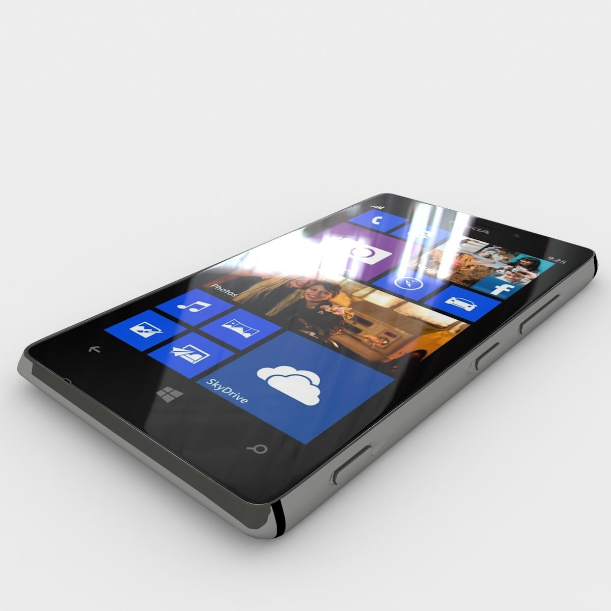 Nokia lumia 925 jpg - Nokia Lumia 925 Black 3docean Item For Sale 01 Jpg