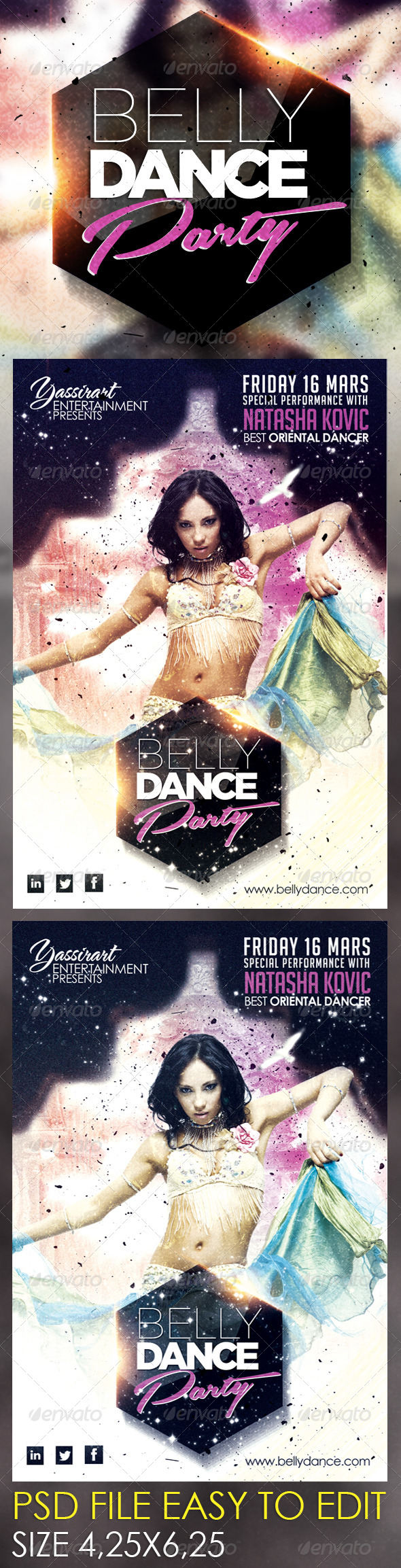 Belly Dance Party Flyer Template - Clubs & Parties Events