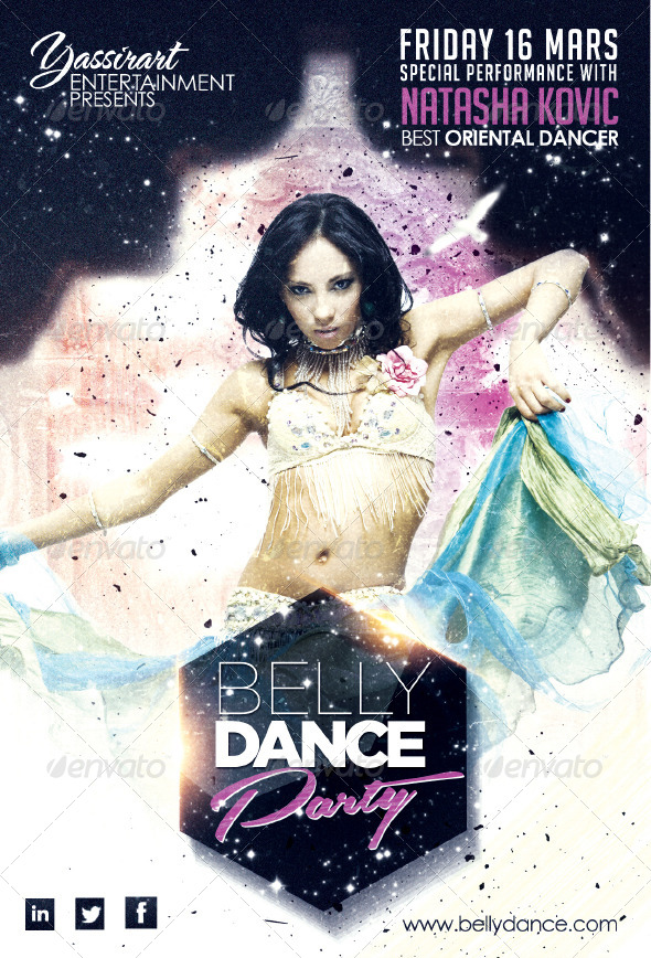 Belly Dance Party Flyer Template By Yassirart Graphicriver