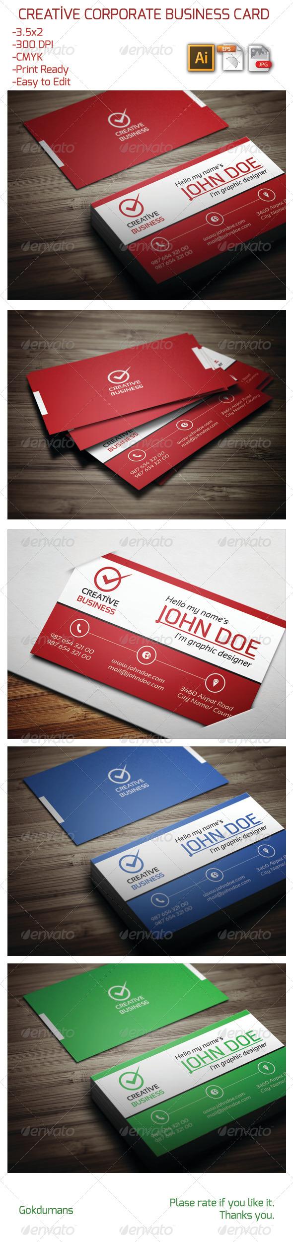Creative Corporate Business Card 13 - Creative Business Cards