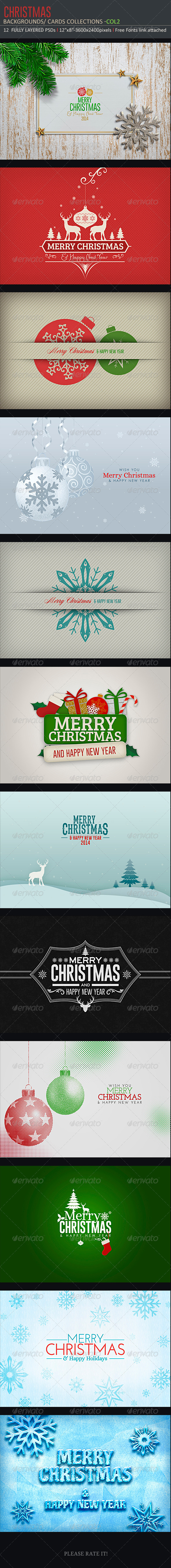 Christmas Backgrounds-Cards -Col2 - Backgrounds Graphics