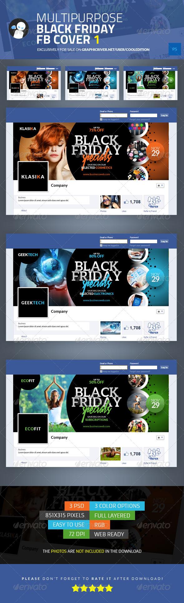 Multipurpose Black Friday Facebook Cover 1 - Facebook Timeline Covers Social Media