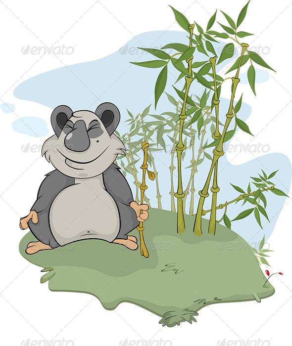 Panda and Bamboo Wood - Animals Characters