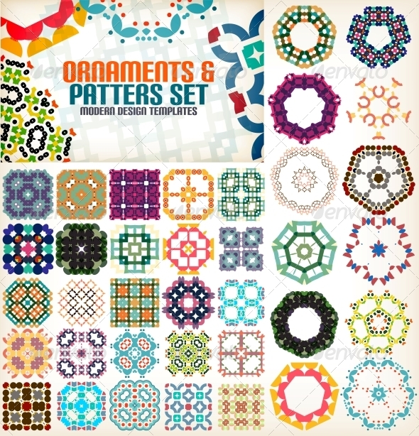 Set of Vintage Geometric Patterns for Backgrounds - Patterns Decorative