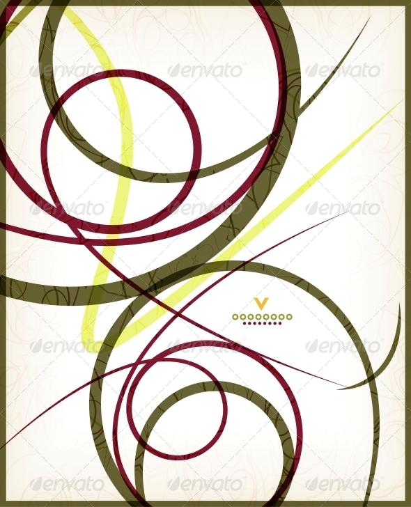 Beautiful Vintage Retro Swirls - Backgrounds Decorative