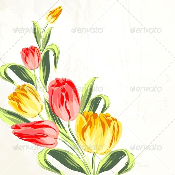 Tulip Bouquet - Flowers & Plants Nature