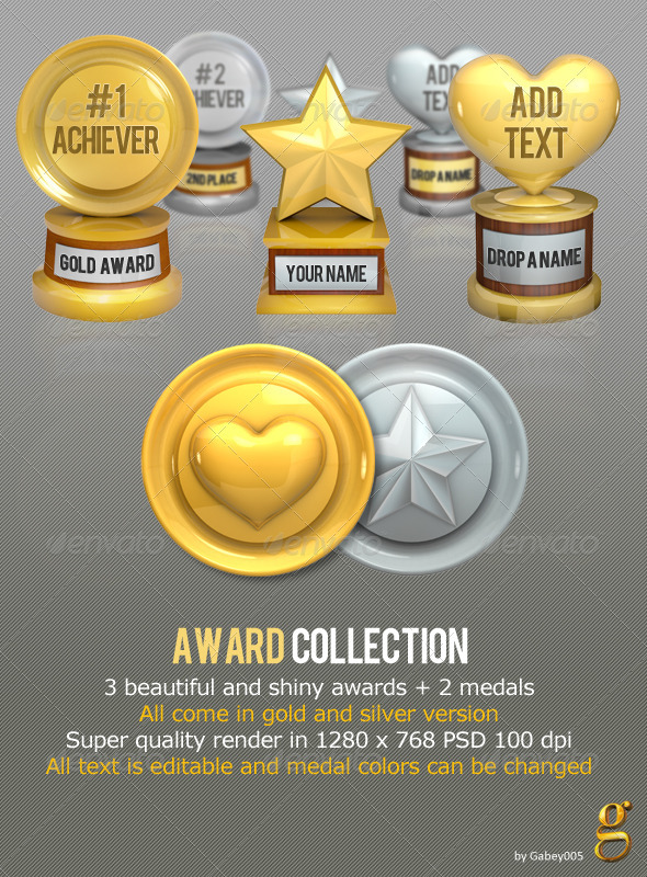 Award Collection - Objects Illustrations