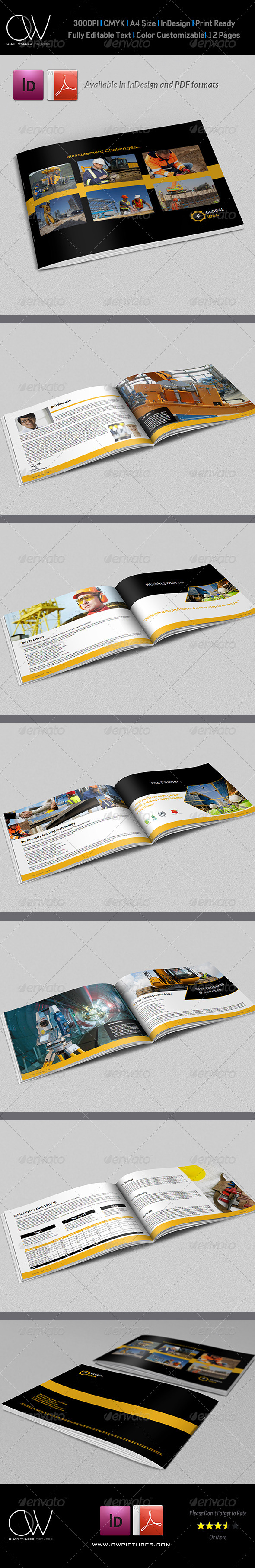 Construction Industry Brochure Template - 12 Pages - Corporate Brochures