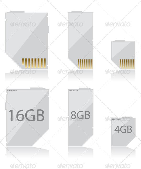 Memory Card White - Technology Conceptual
