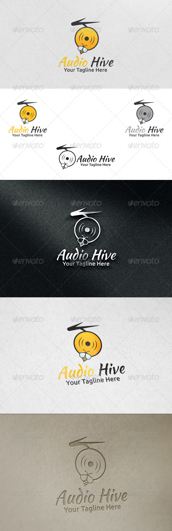Audio Hive - Logo Template - Nature Logo Templates