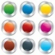 Metallic Buttons Template Set. Vector Sticker. - GraphicRiver Item for Sale