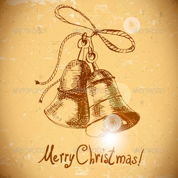 Christmas Bell Vintage Background - Patterns Decorative