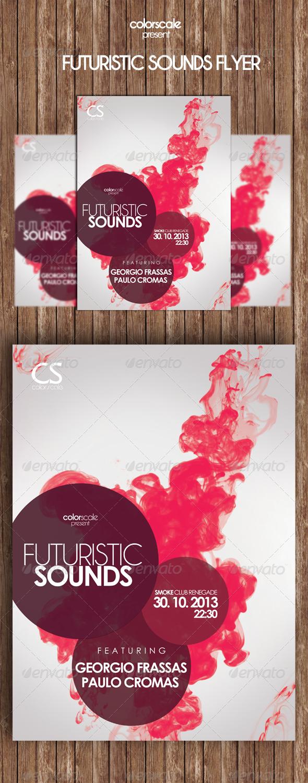 Futuristic Sounds Flyer - Flyers Print Templates