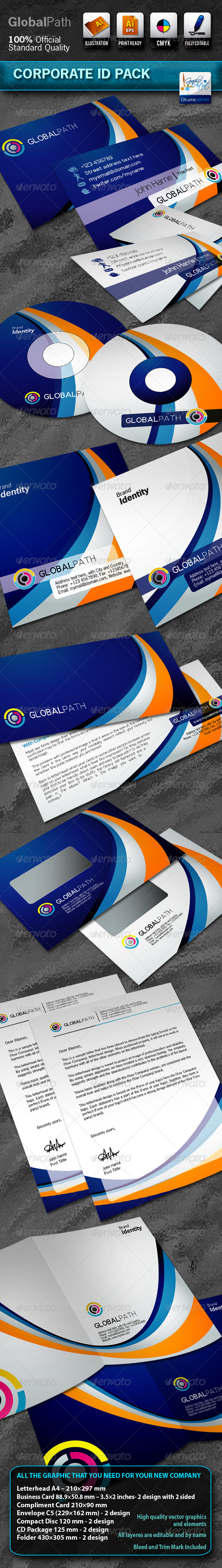 Business Corporate ID Pack With Logo - Stationery Print Templates