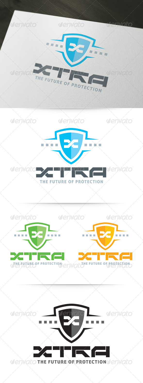 XTRA - Future Protection Logo - Crests Logo Templates
