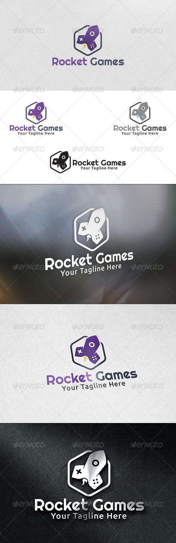 Rocket Games - Logo Template - Objects Logo Templates