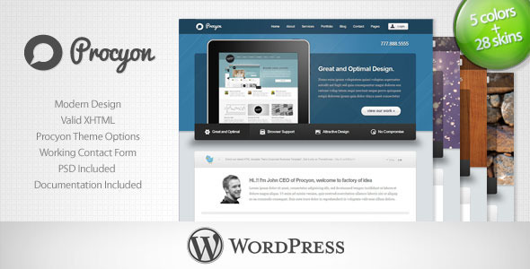 Procyon – Corporate Business WordPress Theme 6