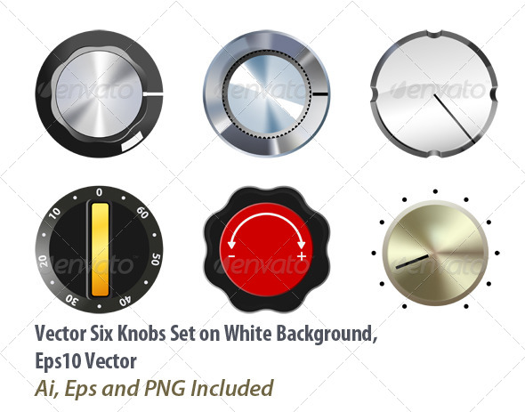 Knobs Set - Objects Vectors