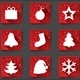 Merry Christmas Flat Icons with Shadows - GraphicRiver Item for Sale