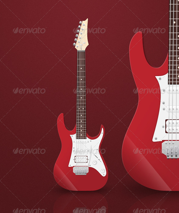 Electric Guitar - Objects Illustrations