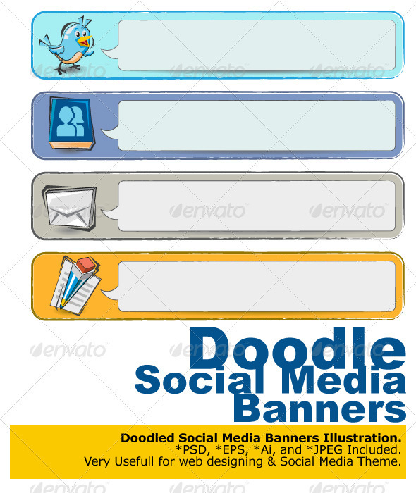 Doodle Social Media Banners - Media Technology