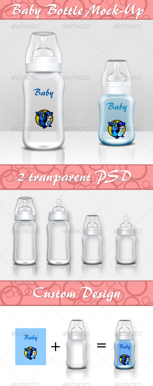 Baby Bottle Mock-Up - Product Mock-Ups Graphics