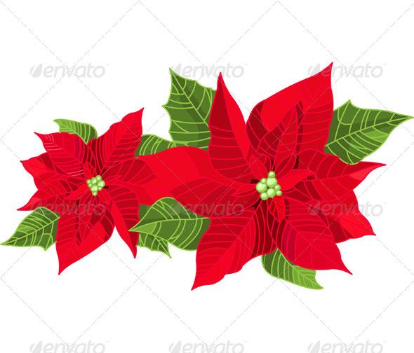 Christmas Decoration Poinsettia - Christmas Seasons/Holidays