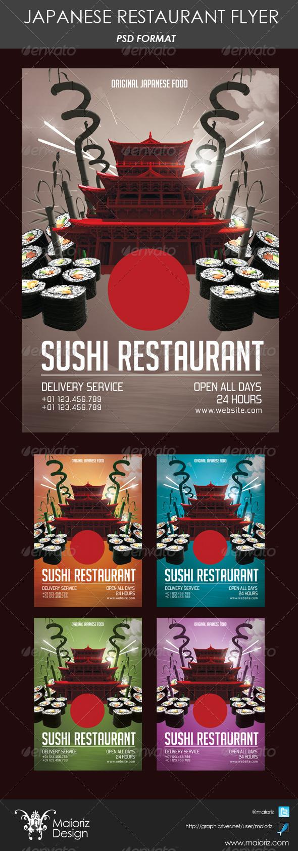 Japanese Restaurant Flyer - Restaurant Flyers