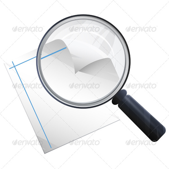 Magnifying Glass Illustration - Technology Conceptual