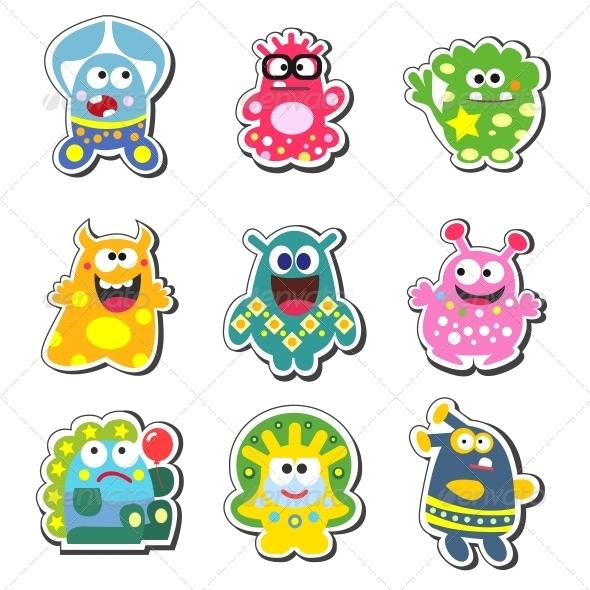 Cartoon Monsters Set - Monsters Characters