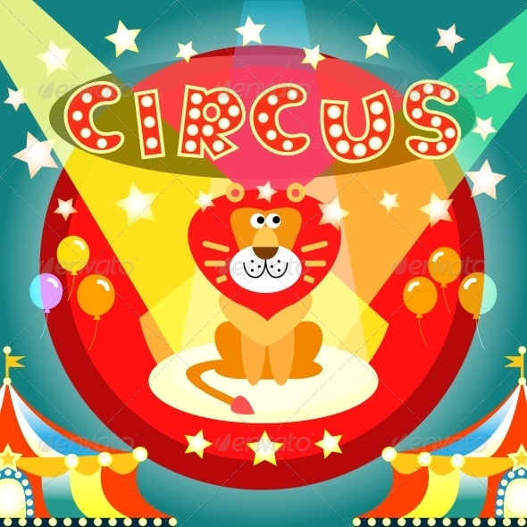Circus Poster - Animals Characters