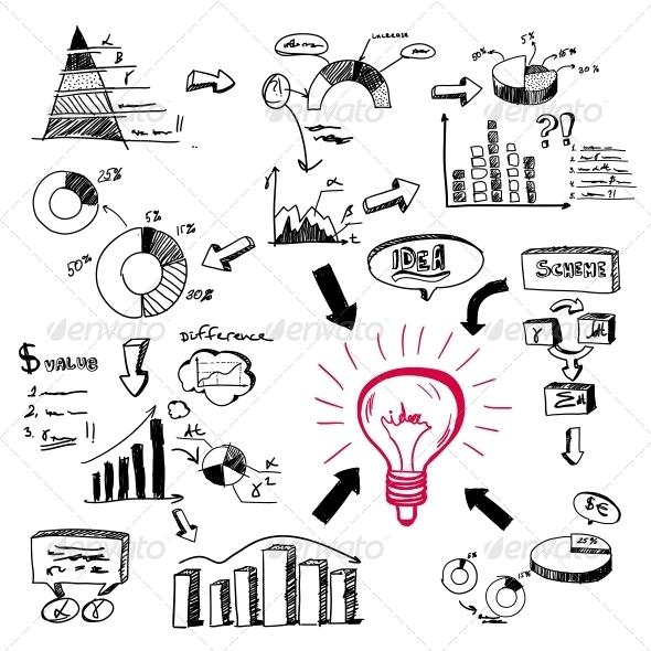 Doodle Infographics - Concepts Business