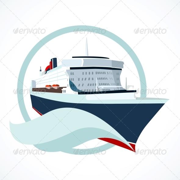Cruise Ship - Decorative Symbols Decorative