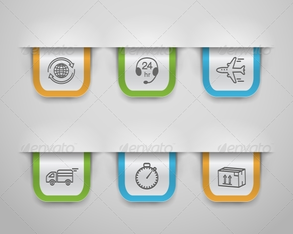 Logistic Icons - Concepts Business