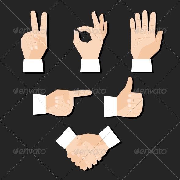 Hands Set - Decorative Symbols Decorative