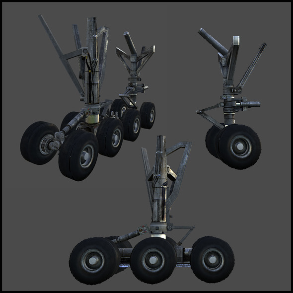 Aircraft Landing Gear - 3DOcean Item for Sale