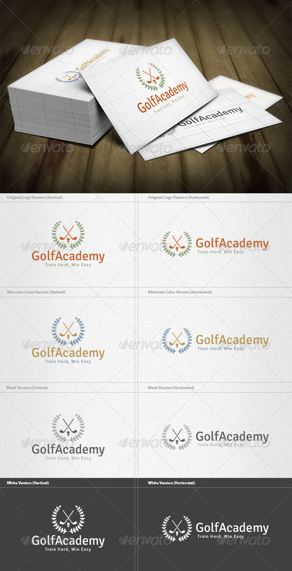 Golf Academy Logo - Crests Logo Templates