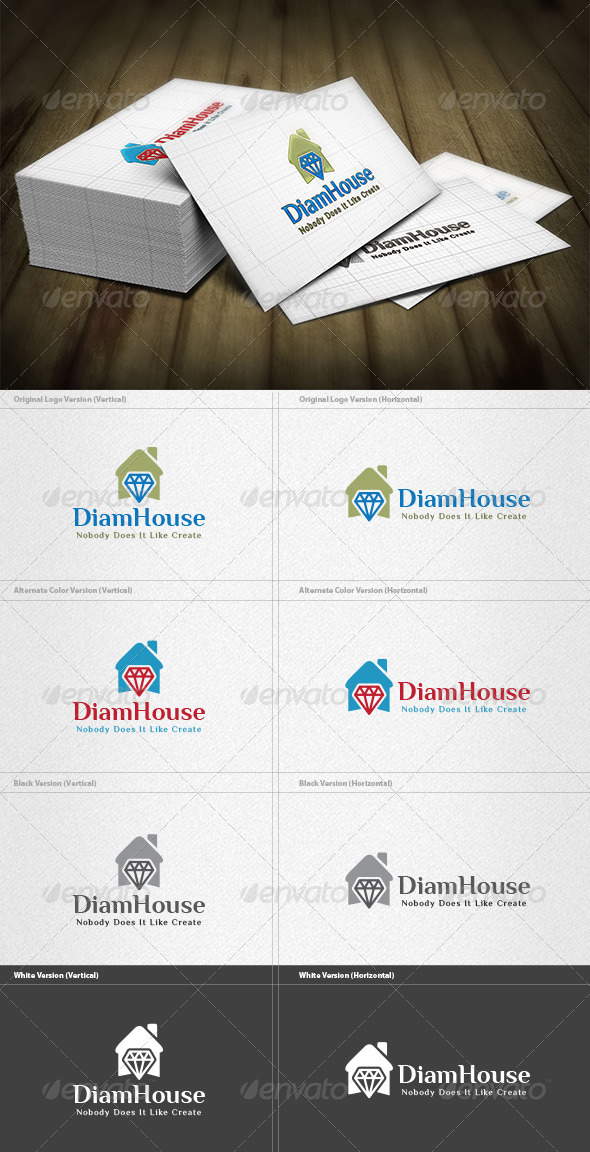 Diamond House Logo - Buildings Logo Templates
