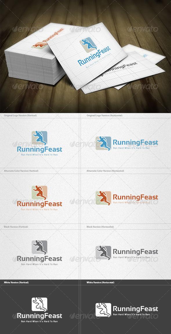 Running Feast Logo - Humans Logo Templates