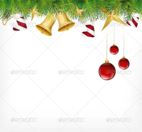 Christmas Card Ornament Hanging on the Tree - Christmas Seasons/Holidays