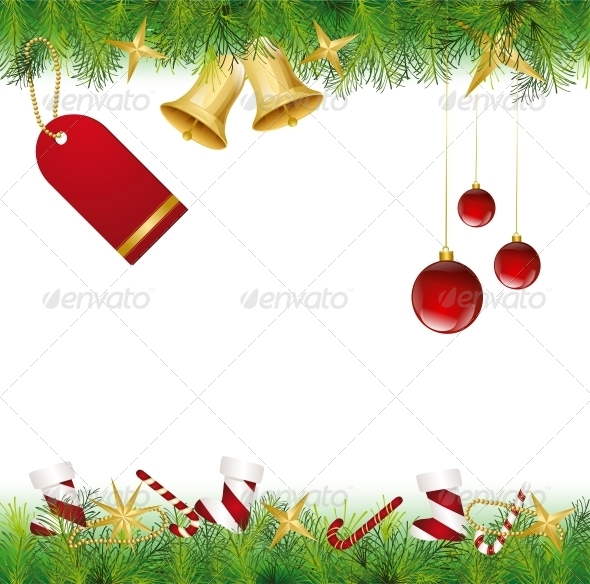 Christmas Card Ornament hanging on the Tree - Christmas Seasons/Holidays