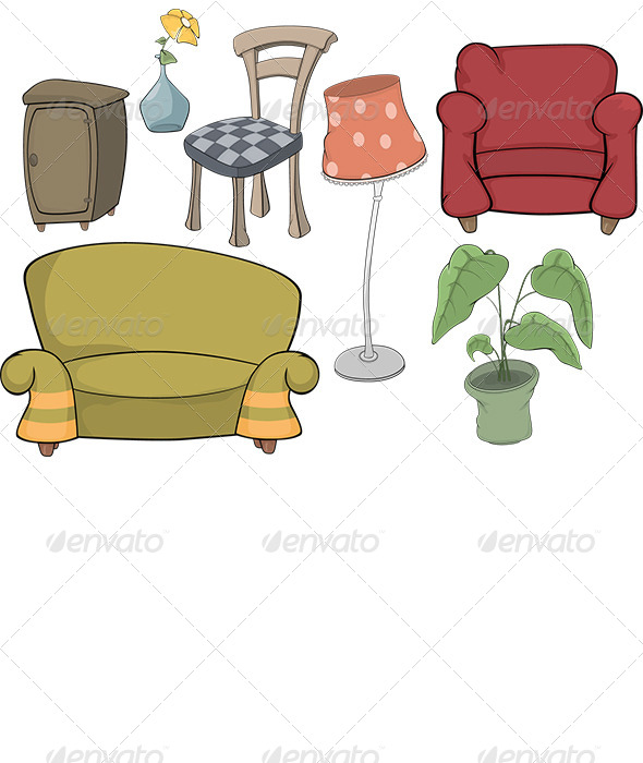 The Furniture Complete Set - Objects Vectors