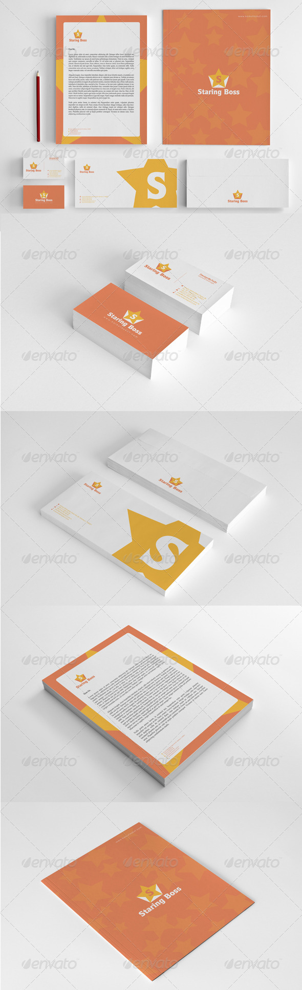 Staring Boss Corporate Identity Package - Stationery Print Templates