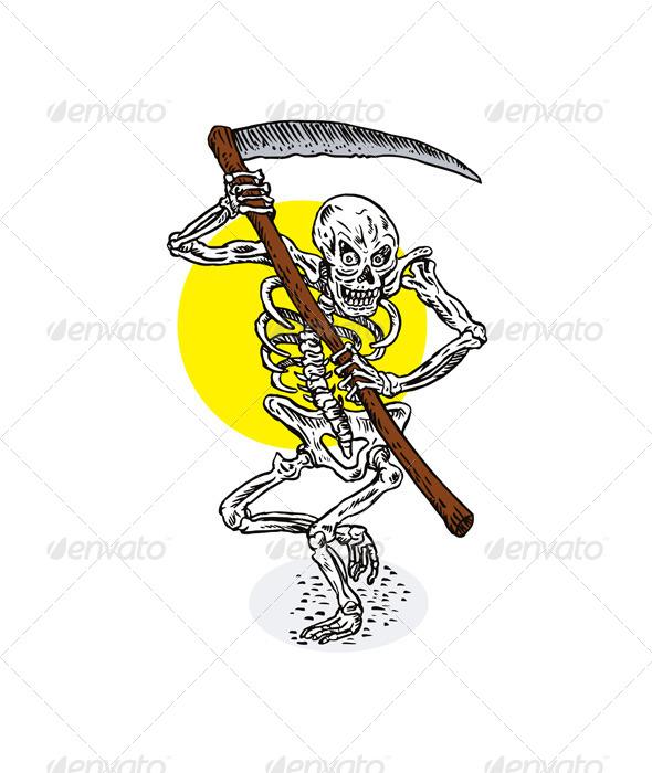 Grim Reaper Skeleton Stance - Monsters Characters