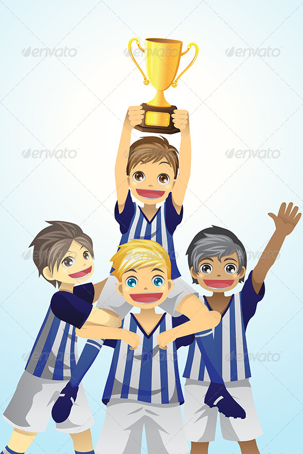 Sport Kids Lifting Trophy - Sports/Activity Conceptual