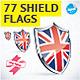 77 Shield Flag Illustrations - GraphicRiver Item for Sale
