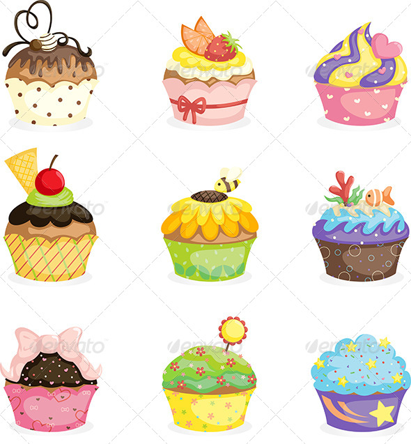 Cupcakes - Food Objects