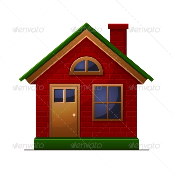 House Icon Isolated - Buildings Objects