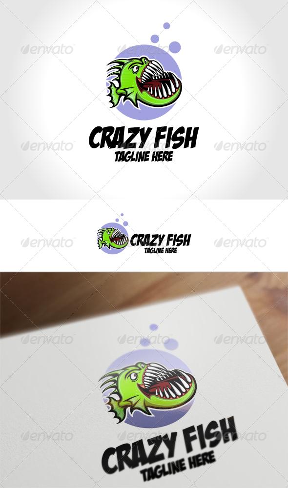Crazy Fish Logo Template - Animals Logo Templates