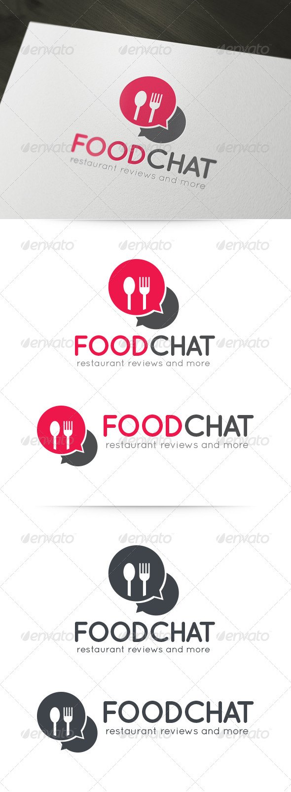 Food Chat Logo - Food Logo Templates